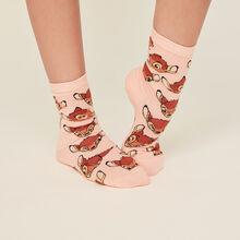 Chaussettes roses bambixiz pink.