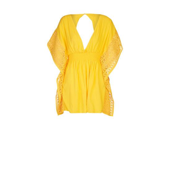 Tunique de plage jaune doré incorpiz;