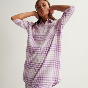 chemise oversize à carreaux - violet