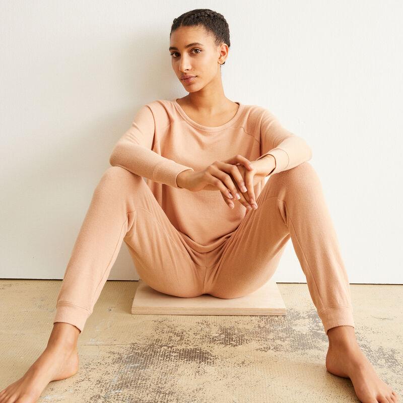 pantalon cordon à nouer - rose;