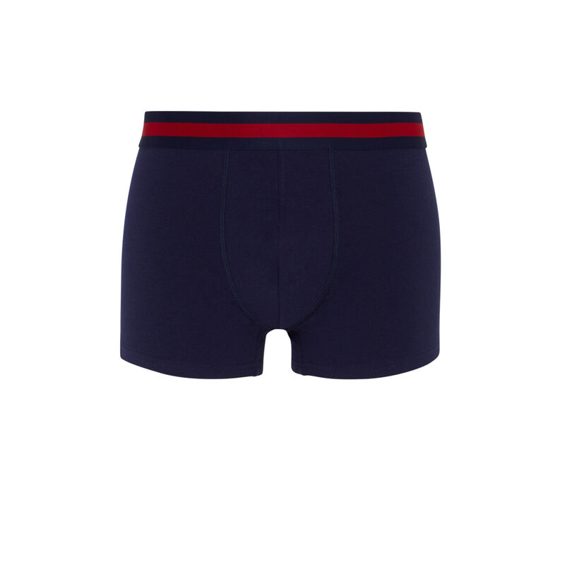 boxer en coton - bleu marine;