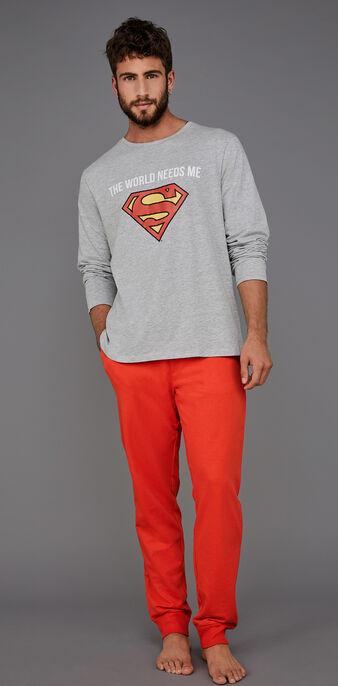 Set pyjama homme gris suprakitiz grey.
