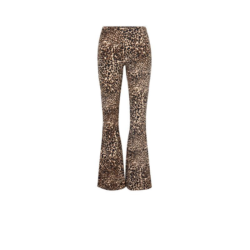 Pantalon flare imprimé léopard leoversiz;