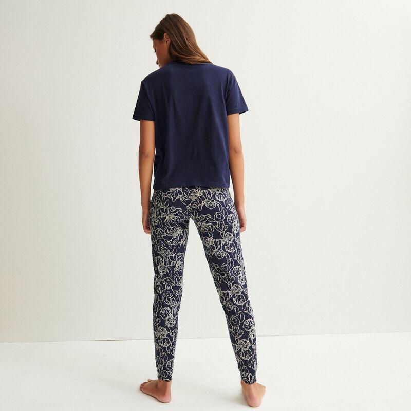 legging à motifs stitch - bleu marine;