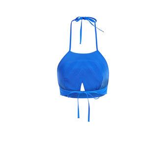 Haut de maillot de bain bleu martiniz blue.