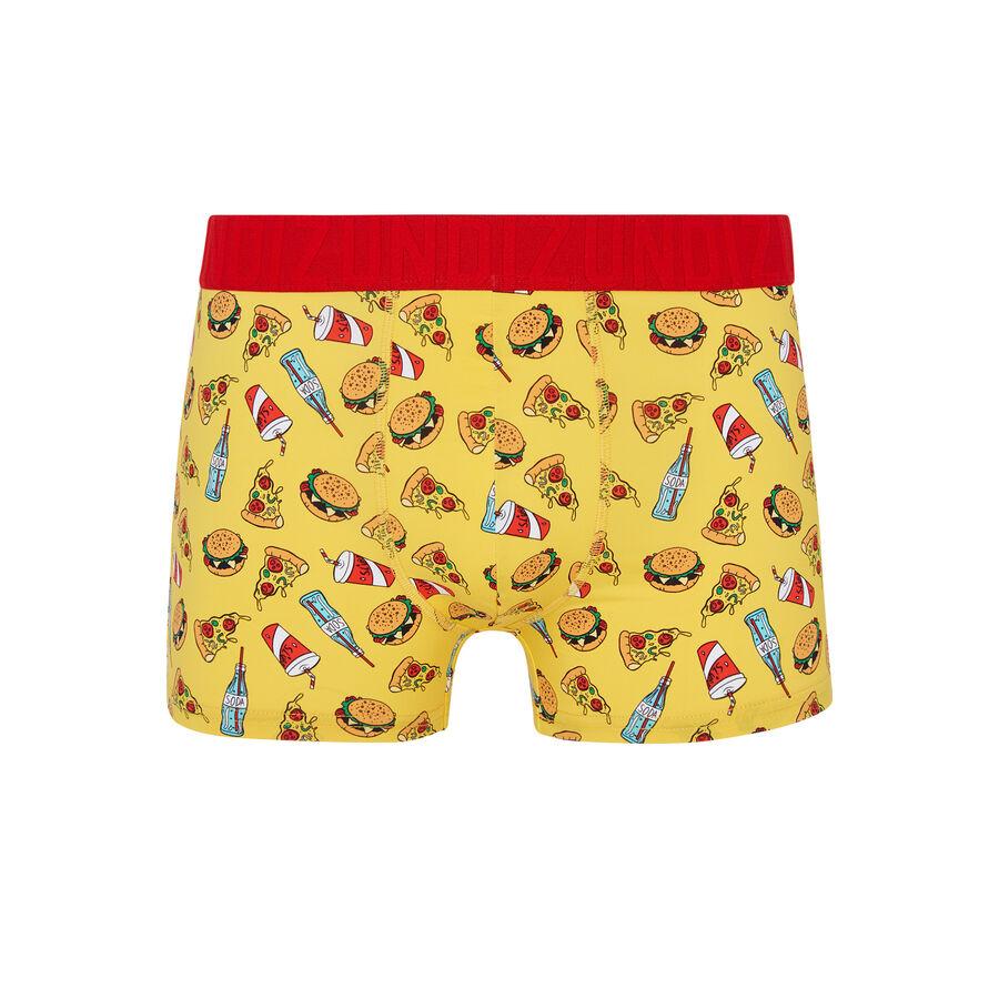 Boxer jaune junkfoodiz;${refinementColor}