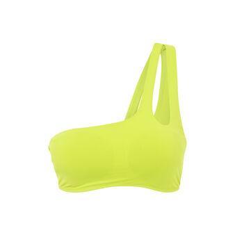 Haut de maillot de bain bralette jaune asymetriz yellow.