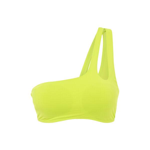Haut de maillot de bain bralette jaune asymetriz;