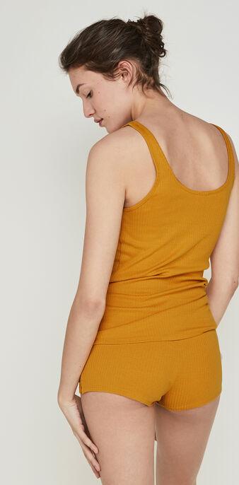 Top couleur ocre newdebidiz yellow.