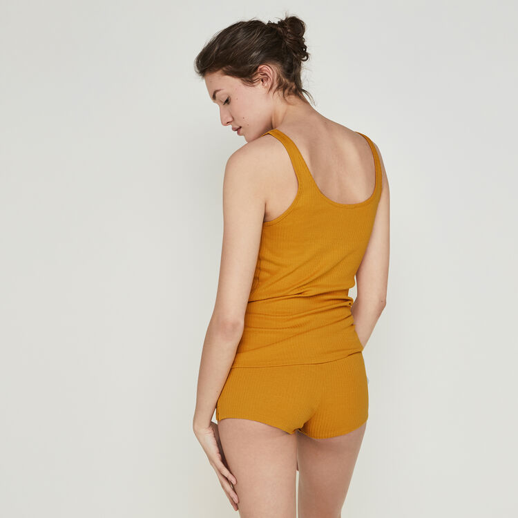 Short couleur ocre newdebidiz yellow.