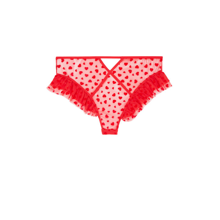 Culotte taille haute rouge highwaist red.