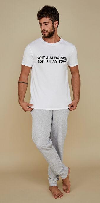 Set pyjama blanc homme soitiz white.