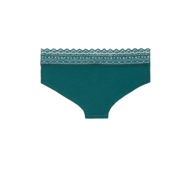 shorty coton à dentelle - vert;