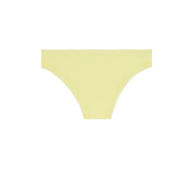 Culotte bords dentelle - jaune ;