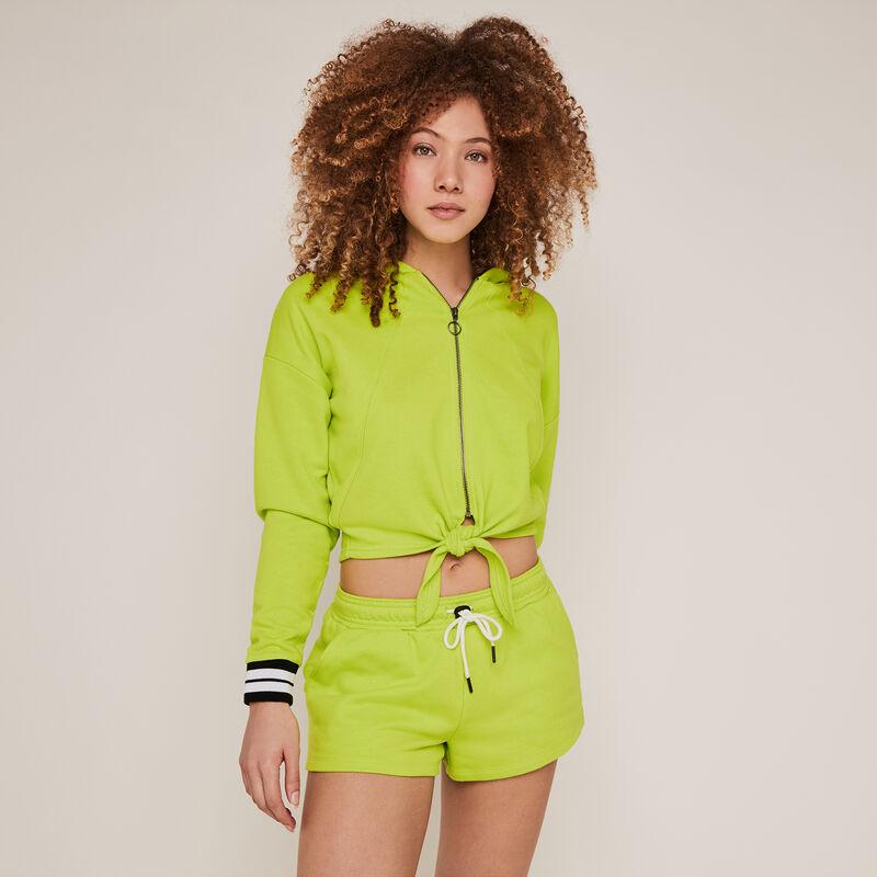 Short molleton uni - vert;