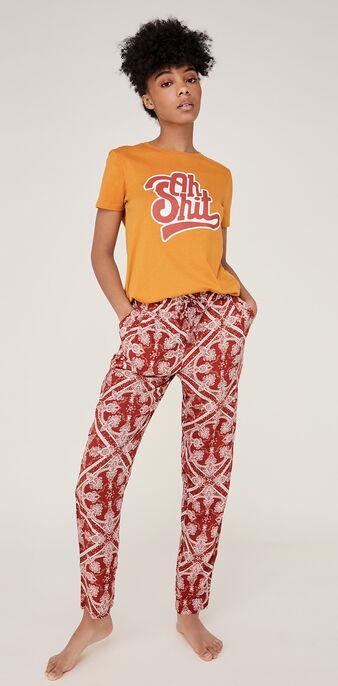 Pantalon rouge brique juleiz red.
