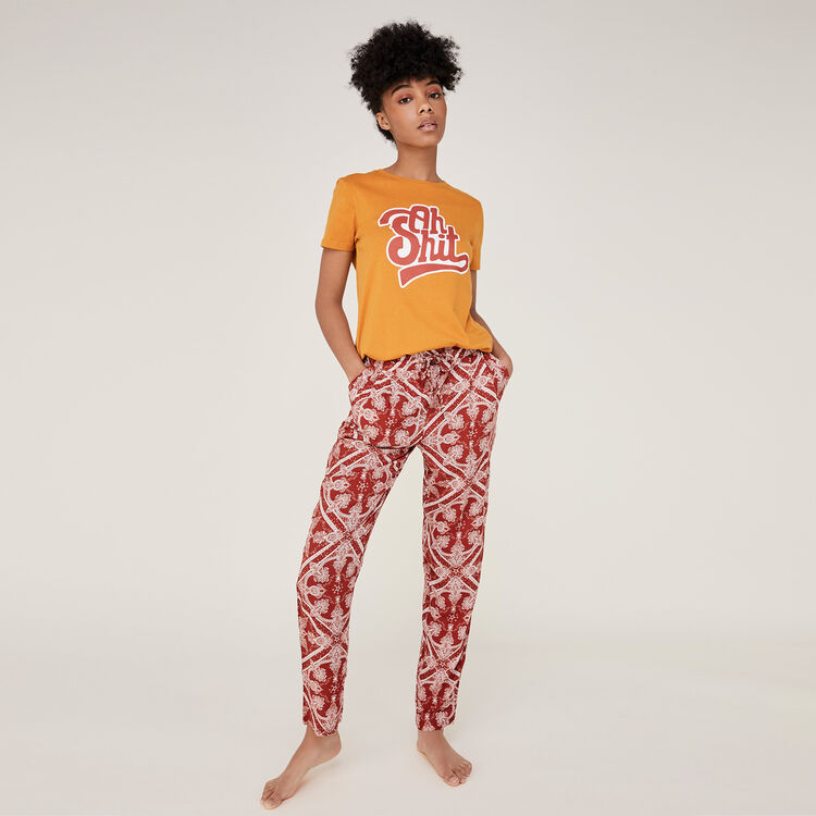 Pantalon rouge brique juleiz;