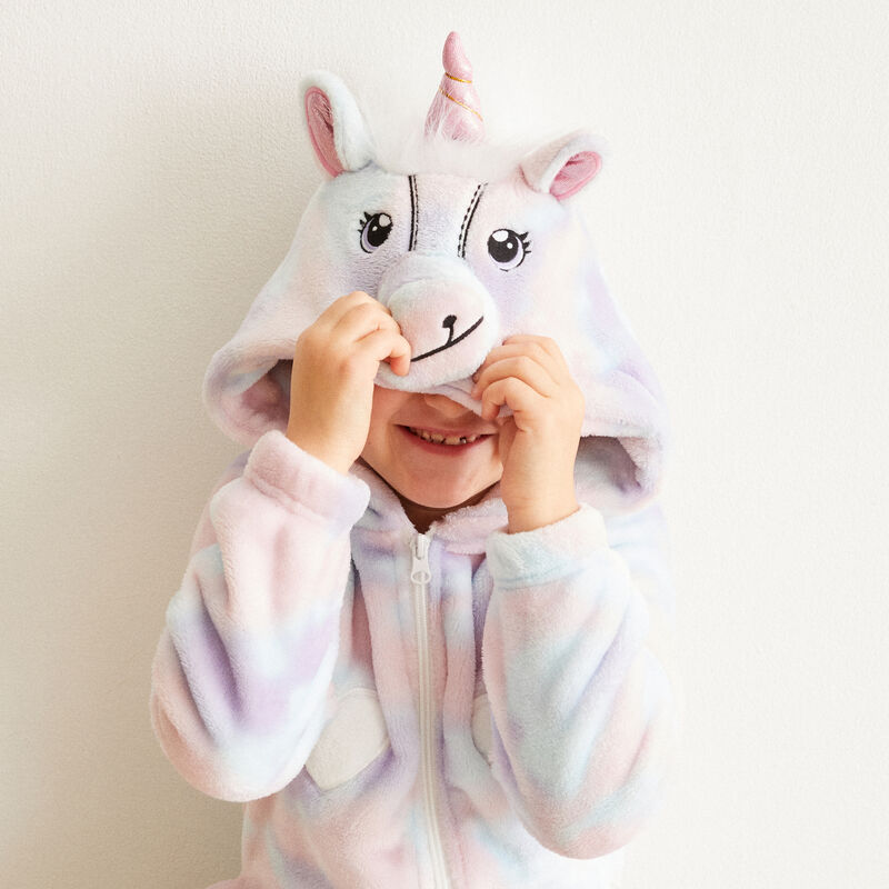 combinaison kid licorne - violet;
