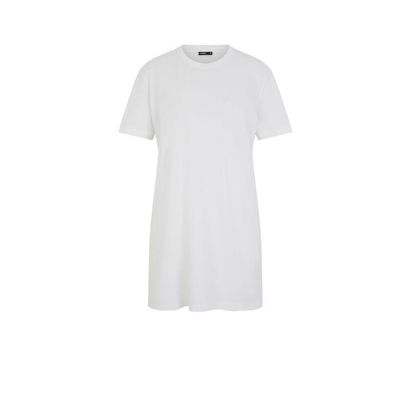 Tunique à manches courtes - blanc;