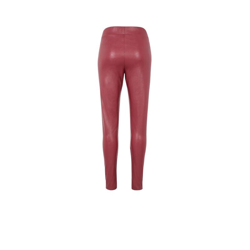 legging similicuir - rouge;