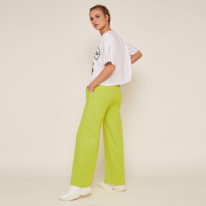 Pantalon jogging uni - vert;