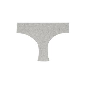 shorty en coton uni - gris