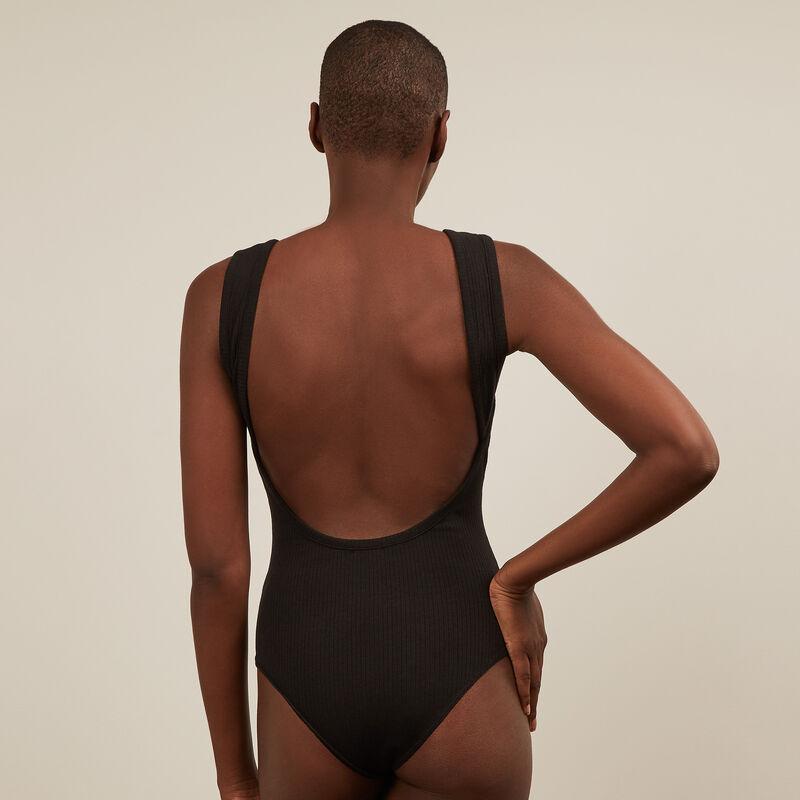 Body sans manche dos nu - noir;