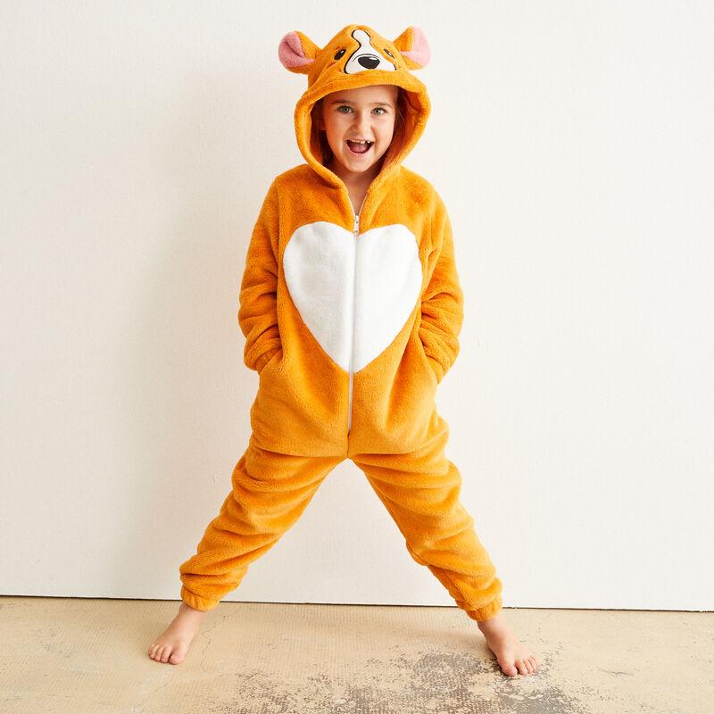 combinaison polaire kid corgi - marron;