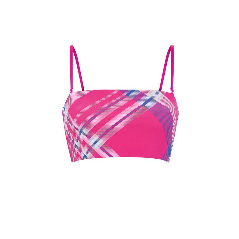 haut de maillot de bain bandeau réversible - rose;