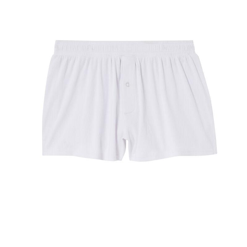 boxer en coton - blanc;