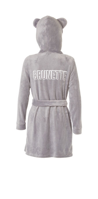 Peignoir gris clair sobruniz grey.