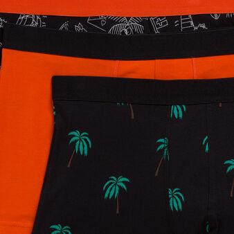 Lot de trois boxers palmitiz black.