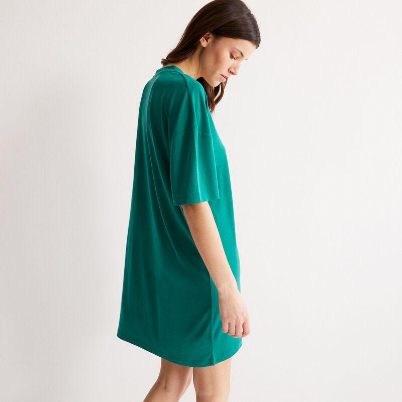 tunique droite col V - vert;