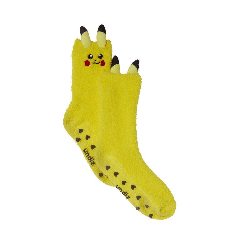 chaussettes Pikachu - jaune;