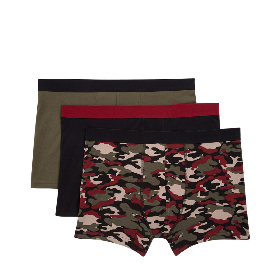 Set of three Militiz boxer shorts;${refinementColor}