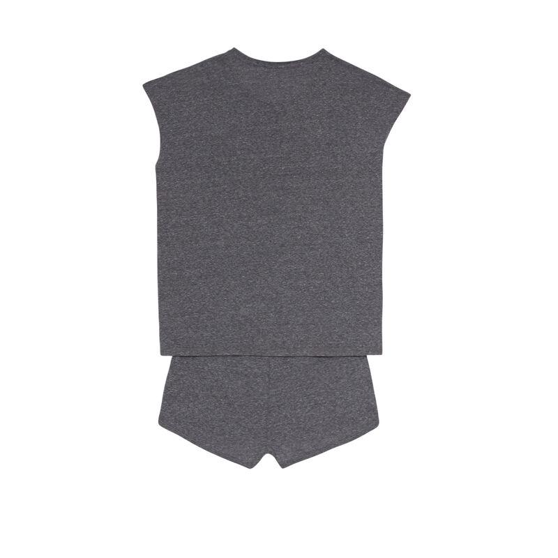 set de pyjama uni - gris;