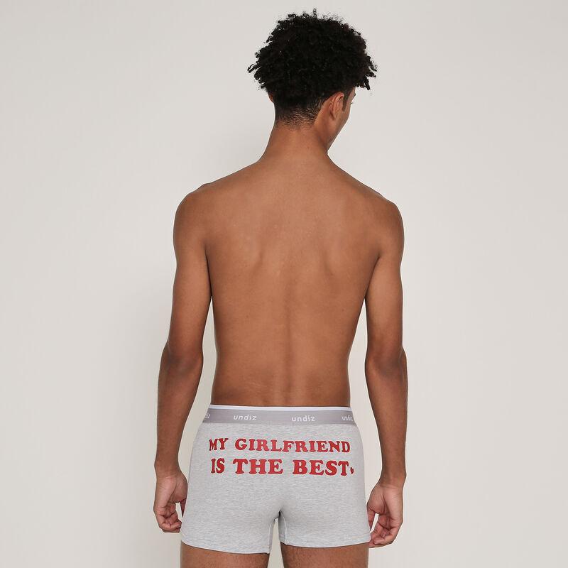 Boxer en coton à message engmeilleurmeciz;