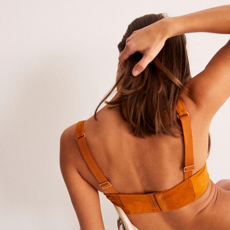 soutien-gorge bustier ampliforme - marron;