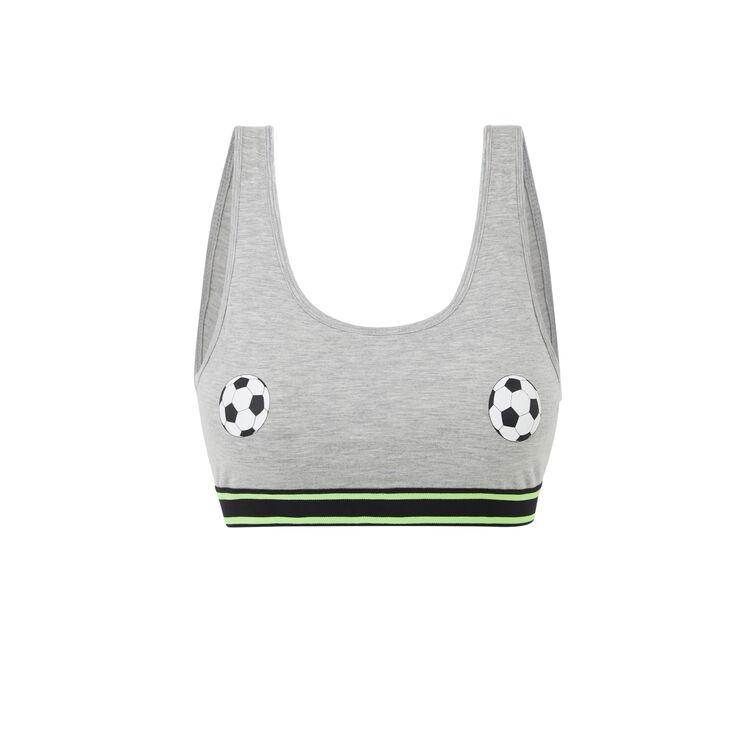 Brassière grise footballiz.