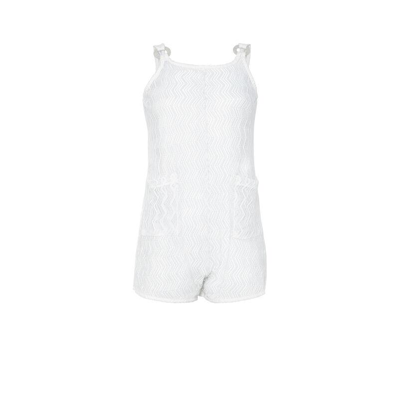 Combishort en mesh - blanc ;