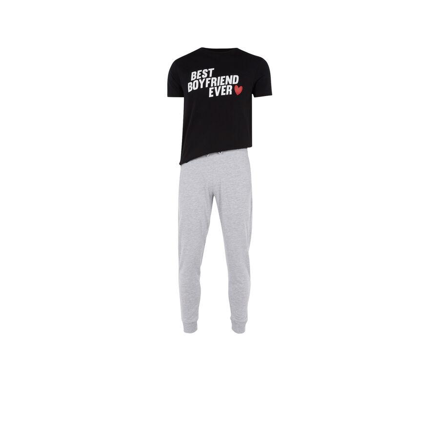 Set pyjama homme noir boyfriz;
