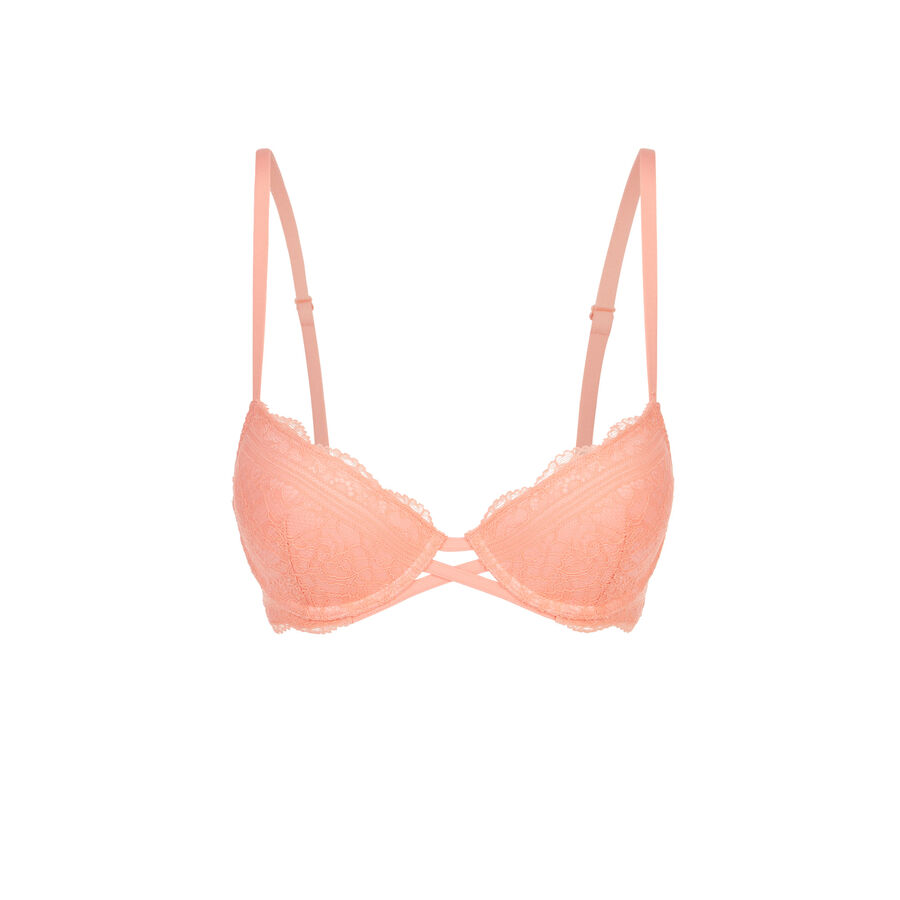 Soutien-gorge push rose saumon everydayiz;