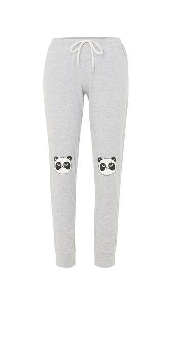 Pantalon gris pandapiliz grey.