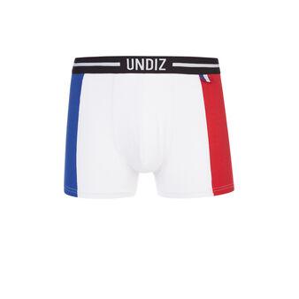 Boxer bleu blanc rouge worldiz white.