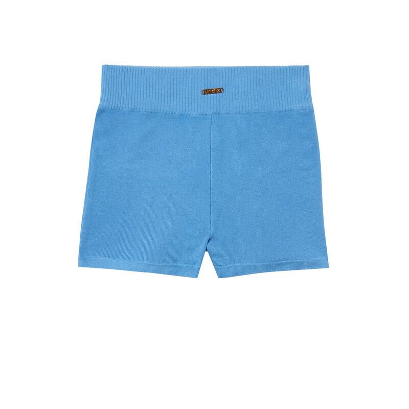 short cycliste en jersey - bleu;