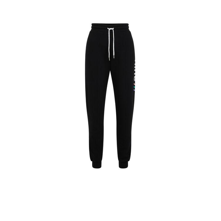 Pantalon jogging molleton offliniz noir.