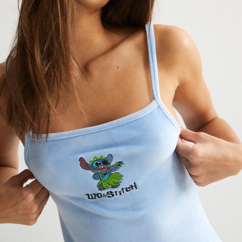 top uni Stitch - bleu;