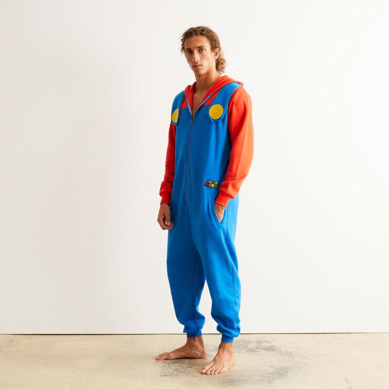 combinaison Mario - bleu;