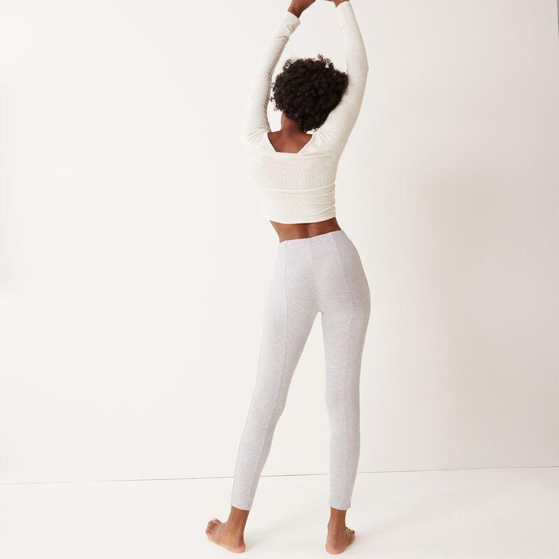 legging comfy à message 100% love - gris clair;