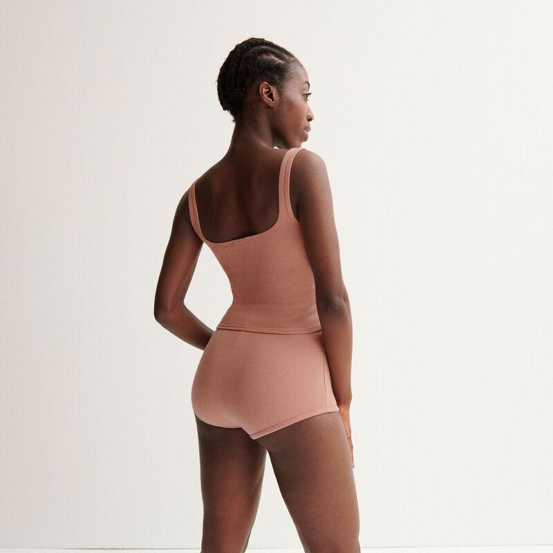 "short taille haute Aya x undiz ""jolie nana"" en pointelle - rose nude;"